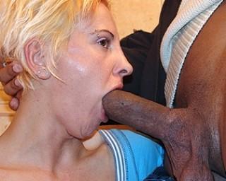 Omaseks Blonde asslicking housewife getting cum